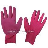 Цветастой перчатка работы Safey латекса пены перчаток сада покрынная ладонью