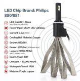 rimontaggio delle lampadine del kit 9600lm Philips LED del faro di 60W 880 LED