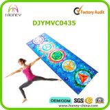 7 Mat van de Yoga van de Douane Chakras de Embleem Afgedrukte met AntislipSuède Microfiber en Natuurlijk Rubber