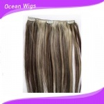 2015 brasiliano Hair Clips Virgin Remy Hair Hair Clip in Human Hair Extensions (CH-003)