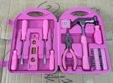 rosafarbenes Set des Hilfsmittel-29PCS, Damen rosafarbener Werkzeugkasten, Haushalts-rosafarbener Hilfsmittel-SetSpecial für Damen