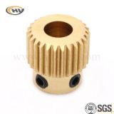 El engranaje de cobre amarillo para el CNC parte (HY-J-C-0213)