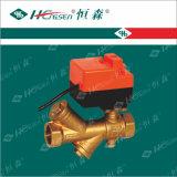 Vávula de bola motorizada filtro del equilibrio dinámico con la válvula del filtro del actuador