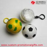 フットボールの形の卸売の使い捨て可能なPE雨ポンチョ