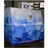 60cu. FTの冷たい傾いたドアが付いている壁によって袋に入れられる氷の収納用の箱