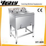 Annuncio pubblicitario che si leva in piedi 2 friggitrice profonda elettrica del cestino del serbatoio 2 la doppia (HY-905)