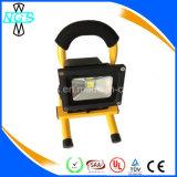 Lumière d'inondation portative extérieure, projecteur rechargeable de RVB LED