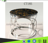 現代ステンレス鋼表/大理石上の茶表/ガラスコーヒーテーブルCT18