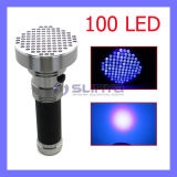 Aluminium 395 400nm 100 LED UVInk Blacklight Ultraviolet Torch Pet Dog Urine Detector Money Checker UVFlashlight (LED100)