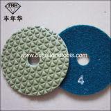 5개 단계 각 분쇄기 건조한 유연한 돌 다이아몬드 닦는 패드
