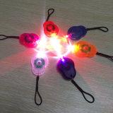 ゴム製手ストラップの多彩なシェルの白い赤LEDの小型バイクライト安全警告指ランプを使って
