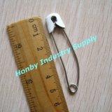 白いカラー57mmのサイズ(P160720B)の真鍮のヘッドステンレス鋼のおむつ安全ピン