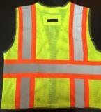 Vest van de Veiligheid van de griep het Gele Weerspiegelende