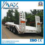 安いPrice 3 Axles 2*20FT 40FT Truck Flatbed Container Semi-Trailer/50 Ton 40 Feet Flat Bed Container Trailer
