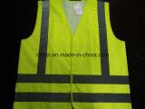 Colore giallo di influenza della maglia di sicurezza Oxford 100% 300d