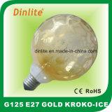 Шарик золота сатинировки Kroko-Льда G125- 40W 60W 75W 100W раскаленный добела