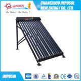 calentador de agua solar de acero galvanizado 100L-300L del tubo de vacío