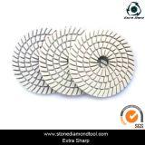 Resina 5-Step molhado branco das almofadas de polonês do diamante da placa