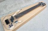 Musique de Hanhai/guitare basse électrique acrylique transparente avec 7 chaînes de caractères