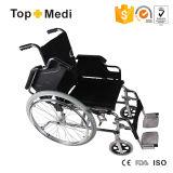 Topmedi Manual Steel Wheelchair mit Detachable Footrest