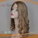 Peruca superior de seda das mulheres bonitas humanas do cabelo de Remy