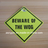 205mm Square Door Sign Hard Plastic Caution Sticker