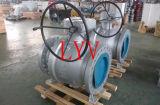 Vávula de bola montada muñón neumático de acero inoxidable del API