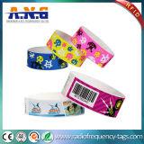 Wristband de papel de la viruta RFID de la hospitalidad F08 del parque de atracciones