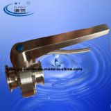 Butterfly sanitario Valve con Stainless Steel Multi-Position Handle