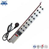 Protector de oleada de relámpago de la señal RJ45 de la red de la potencia de los socketes del aluminio 16