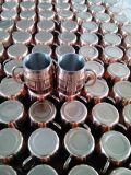 La taza plateada de acero cobreado inoxidable de la vodka de la taza, taza plateada cobre sólido de la mula de 16oz Moscú, 550ml pulió la taza de acero cobreado inoxidable