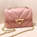 Echtes Leder-Geometrie-Art-Frauen-Handtasche Emg4727 der Entwerfer-Dame-Handbag