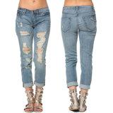 Сорванные джинсыы для джинсыов карандаша Pantalones кальсон джинсыов женщин тощих