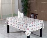Tablecloth impresso PVC quente do teste padrão da forma do quadrado da venda com parte traseira