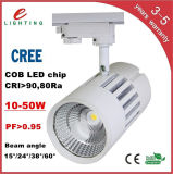 Warm en aluminium White Pure White 30W COB Track Light DEL