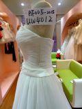 Korn Rouched weißes Hochzeits-Kleid-Hochzeits-Kleid Uw4012