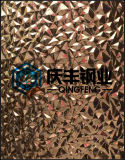 3D Stereoscopic Stamping Color Coated Decoration Stainless Steel Sheet (A129)