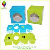 Caja de embalaje de papel auricular con ventana redonda