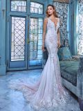 Sheer Lace Wedding Dress Sleeves V-Neck Backless Daria Custom Bridal Gown Gv20176