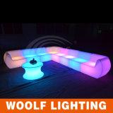 Mobilia di plastica esterna del sofà LED da vendere il sofà moderno delle sedi LED due