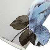 Papier peint profondément gravé en relief floral de PVC de configuration