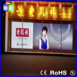Wand Sign für LED Open Sign Fabric LED Light Box mit Aluminum Frame