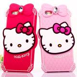 Caixa quente do silicone do telefone móvel do filhote de cachorro da cor-de-rosa da venda