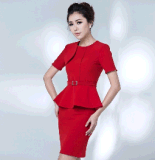 Elegant Top-Quality Fit magro Ladies Summer Office Business Uniform Suit (2010-D2&B18&13)