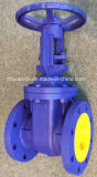 Válvula de porta do ferro de molde do ANSI 150lb, tipo flangeado FF/RF