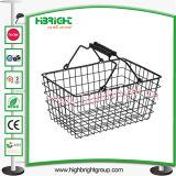 Корзина для товаров провода металла магазина/супермаркета