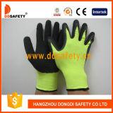 Schwarzer Latex beschichtete Arbeits-Handschuh-Windung fertiges Dnl414