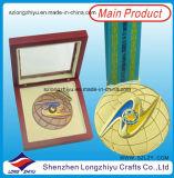 제조자의 주문 메달 제조자 주문 메달 나무 상자