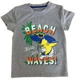 Maglietta del ragazzo della maglietta del bambino della spiaggia in bambini che coprono con la qualità comoda Sqt-609