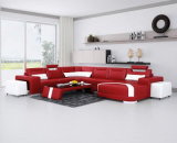 Meistgekauftes populäres moderner Entwurfs-Wohnzimmer-Leder-Schnittsofa (G1011)